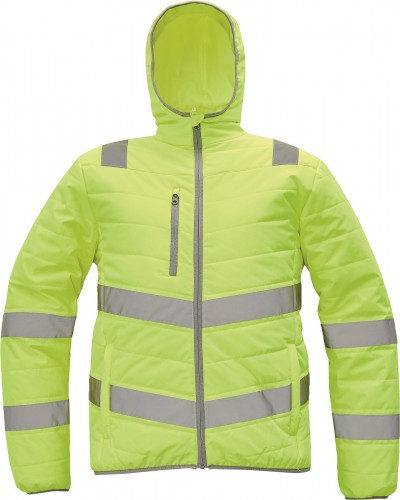 MONTROSE HV Winterjacke, Warnschutz-Jacke in Stepp-Optik