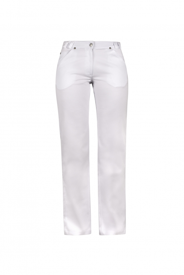 HIZA Damenjeans, weiss, Basic Fit, 5-Pocket-Style
