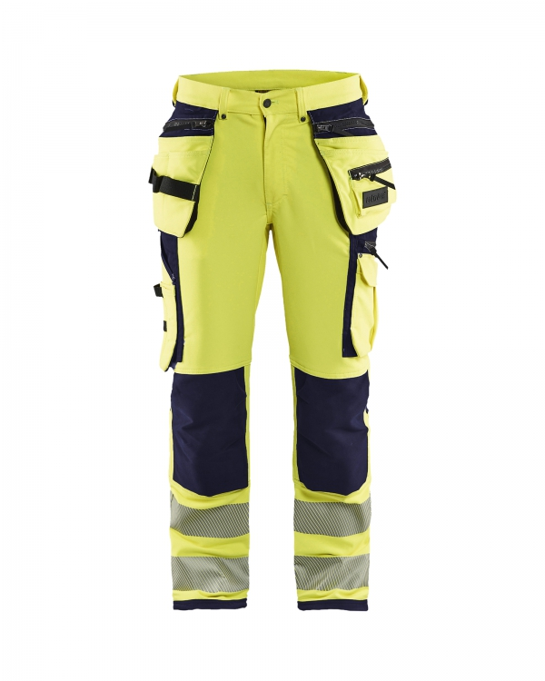 High Vis Arbeitshose 4-Wege Stretch