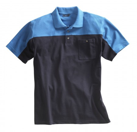 Polo-Shirt, Polo-Pique Marine/Royal