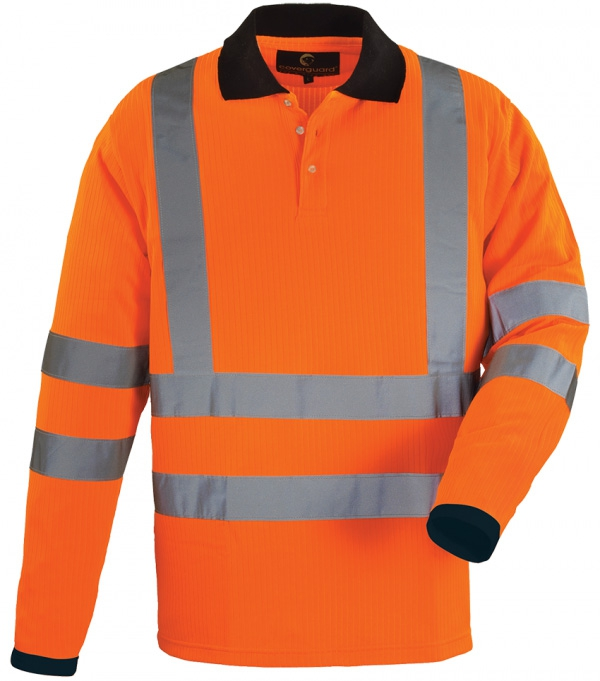 Warnschutzpolo POLOHEMD YARD POLO Hi Viz Long sleeves