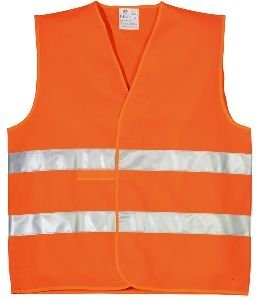 ECO HI-VIZ Weste Doppelreflexstreifen ORANGE cl.2.2
