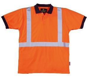 Polo Hi-Viz orange Reflexstreifen, 3M