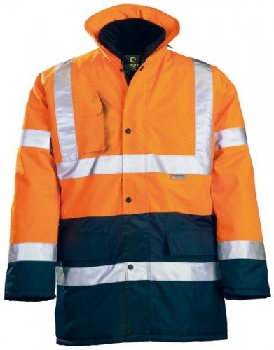 Parka 4 in 1 Hi-Viz  3M Warnschutzparka orange/marineblau