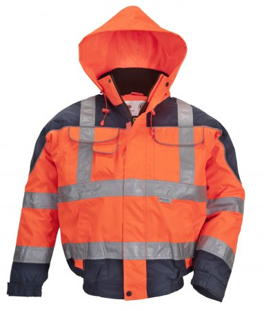 Warnschutzjacke, Warnjacke, Pilotenjacke orange/blau