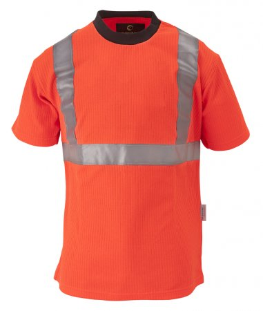 YARD T-Shirt Hi-Viz orange, Doppelreflexstreifen 3M