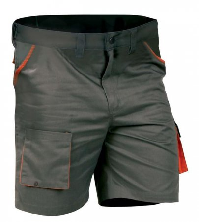 DESMAN Shorts, Kurzhosen, grau/orange