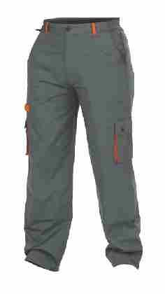 DESMAN Arbeitshose, Bundhose grau/orange