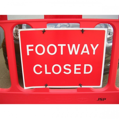 "Titan™ Flexible PVC Sign 600 x 450mm - ""Pedestrian use other Footpath"" - Pack Of 10"