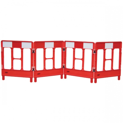 4-Gated Workgate&#8482 System Red Panels Reflective (Top)