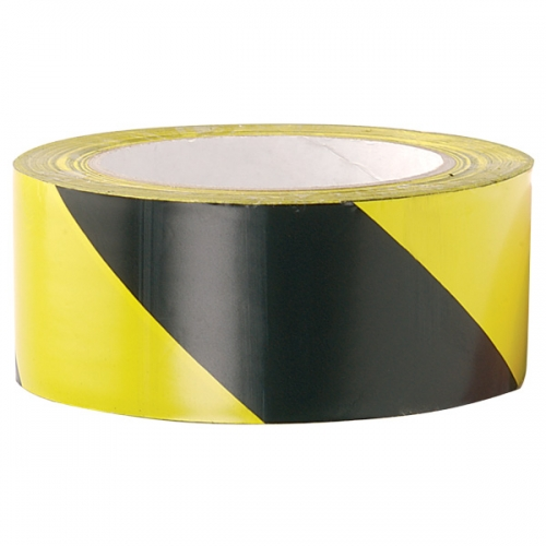Zebra Tape - Black/Yellow (500 metre x 7cm)