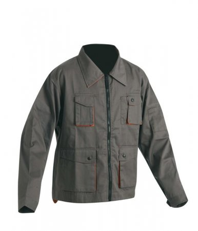 DESMAN Arbeitsjacke grau/orange