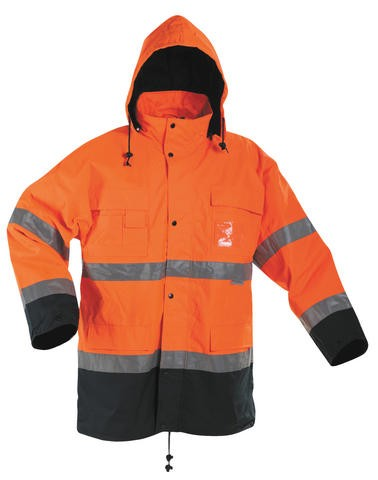 MALABAR Winterparka, Warnschutzparka orange 2 in 1