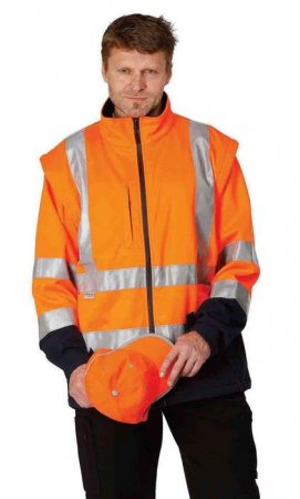NARKE Softshell Warnschutzjacke, Jacke, Softshelljacke 3M orange