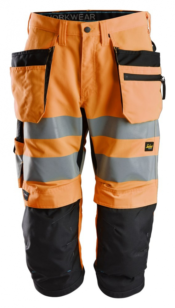 LiteWork, High-Vis Piratenhose+ Holstertaschen Klasse 2