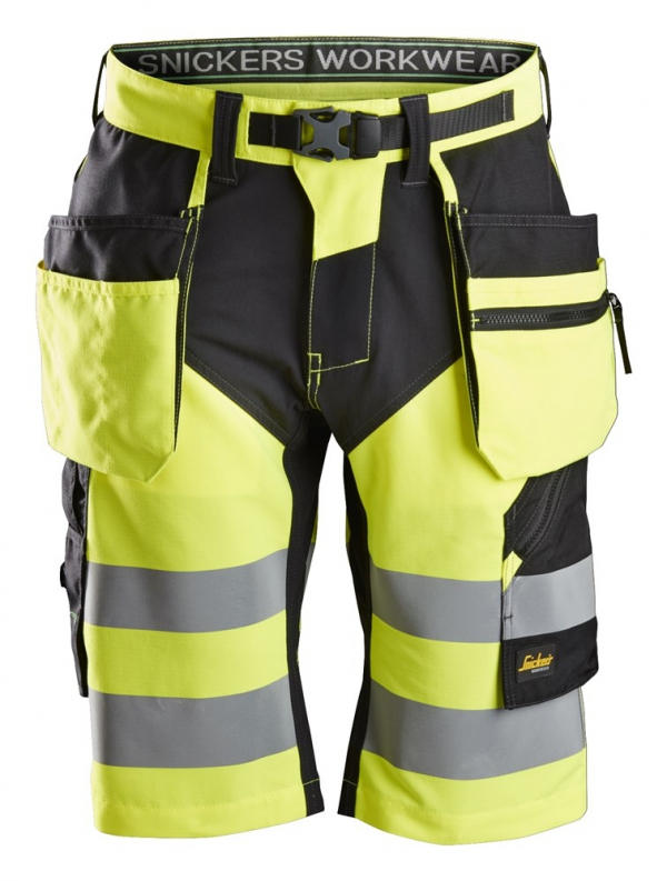 FlexiWork, High-Vis Shorts+ Holstertaschen Klasse 1