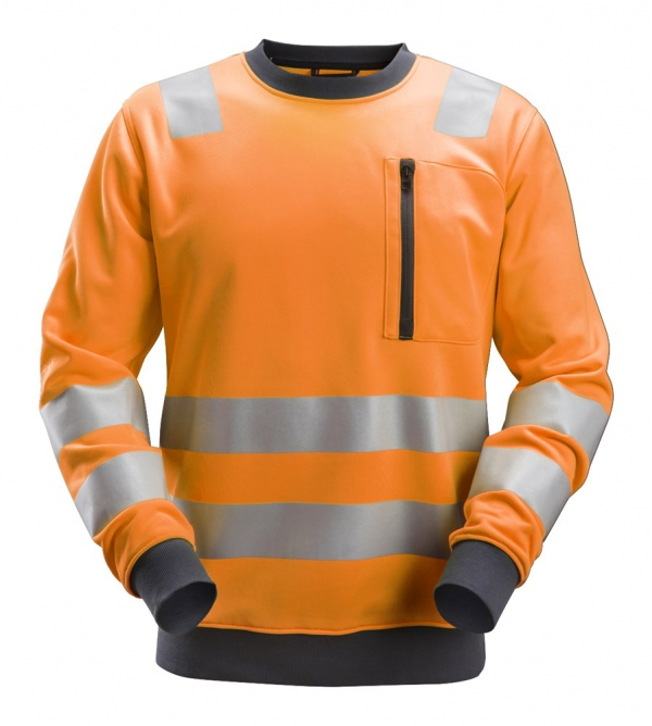 AllroundWork, High-Vis Sweatshirt CL2/CL3